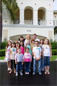 Kids from Broward with their pediatric dentist